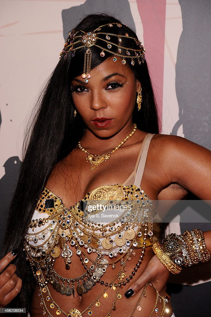 Ashanti attends Moto X presents Heidi Klum's 15th Annual Halloween Party sponsored by SVEDKA Vodka at TAO Downtown on October 31, 2014 in New York City.