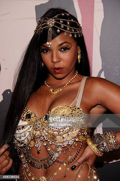 Ashanti attends Moto X presents Heidi Klum's 15th Annual Halloween Party sponsored by SVEDKA Vodka at TAO Downtown on October 31, 2014 in New York...