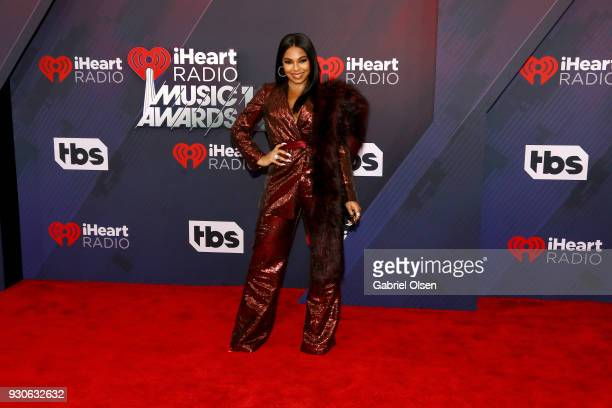 Ashanti attends the 2018 iHeartRadio Music Awards at the Forum on March 11 2018 in Inglewood California