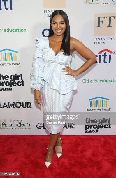 Ashanti attends the 2018 Room to Read New York Gala on May 17 2018 at Kimpton Hotel Eventi in New York City