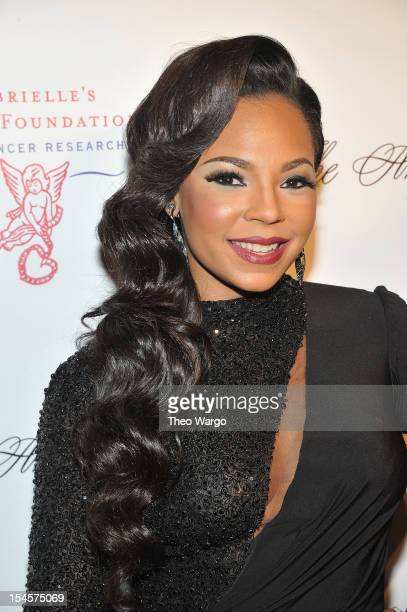 Ashanti attends the Angel Ball 2012 hosted by Gabrielle's Angel Foundation at Cipriani Wall Street on October 22, 2012 in New York City.