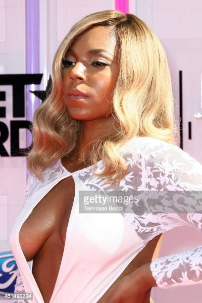 Ashanti attends the 'BET AWARDS' 14 held at Nokia Theatre LA Live on June 29 2014 in Los Angeles California