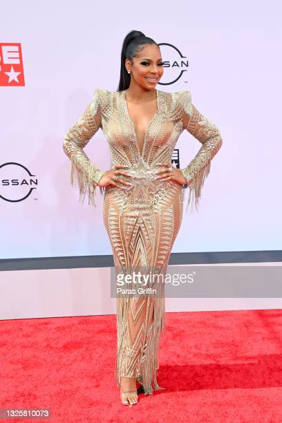 Ashanti attends the BET Awards 2021 at Microsoft Theater on June 27, 2021 in Los Angeles, California.