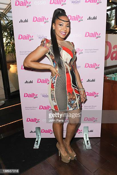 Ashanti attends the Daily Style Sessions with stella dot HBloom and HPNOTIQ at Empire Hotel Rooftop on February 13 2012 in New York City