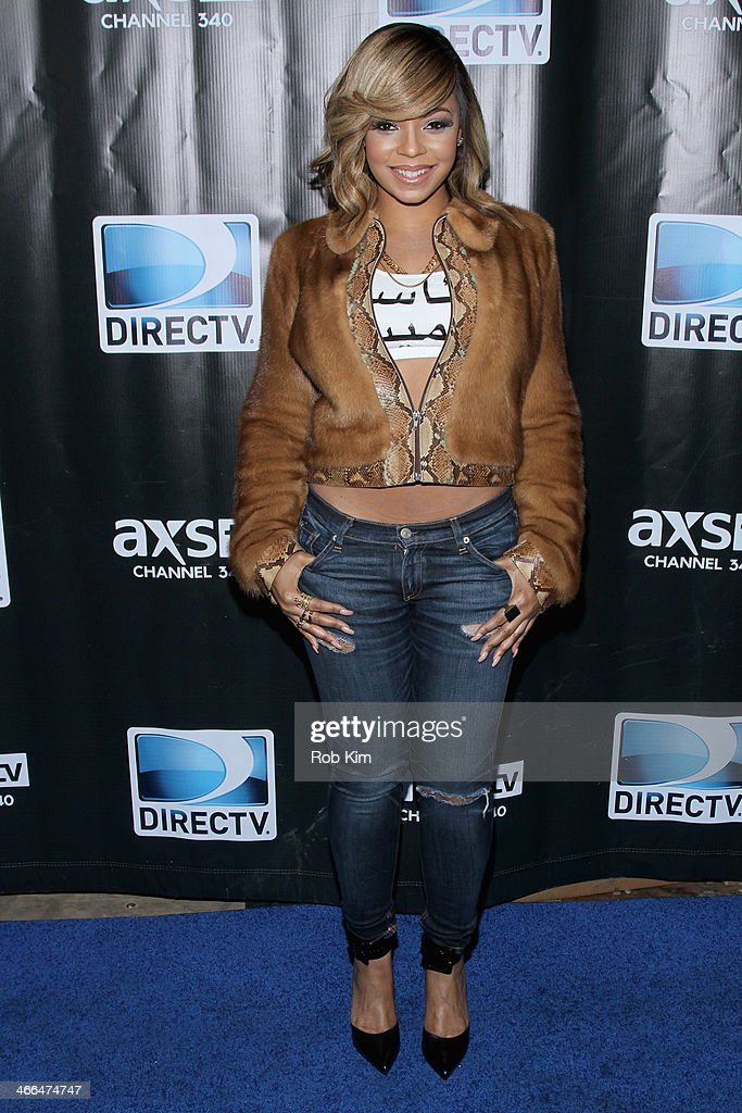 Ashanti attends the DirecTV Super Saturday Night at Pier 40 on February 1, 2014 in New York City.