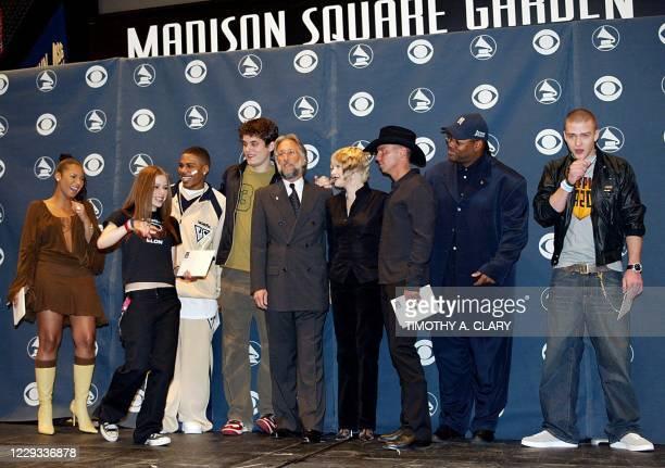 Ashanti , Avril Lavigne , Nelly , John Mayer , Recording Academy President Neil Portnow , Cyndi Lauper , Kenny Chesney , Producer Jimmy Jam Harris...
