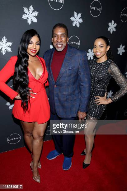 """Ashanti Douglas Stan Shaw and Sashani Nichole attend It's a Wonderful Lifetime"""" first holiday party of the year at STK Los Angeles on October 22 2019..."""