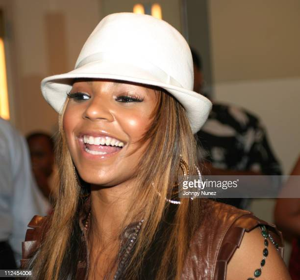 Ashanti during Ashanti On The R Kelly Chocolate Factory Tour Backstage at Madison Square Garden in New York City New York United States