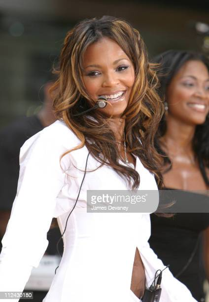 Ashanti during Ashanti Performs on 'The Today Show' Summer Concert Series July 18 2003 at NBC Studios Rockefeller Center in New York City New York...