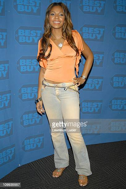 Ashanti during Ashanti Signs Her New CD Chapter II at Best Buy in New York City New York United States