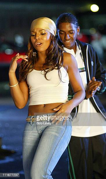 Ashanti during Behind The Scenes of the Murder Inc Video Shoot 'Southside' at Houston in Houston Tx United States
