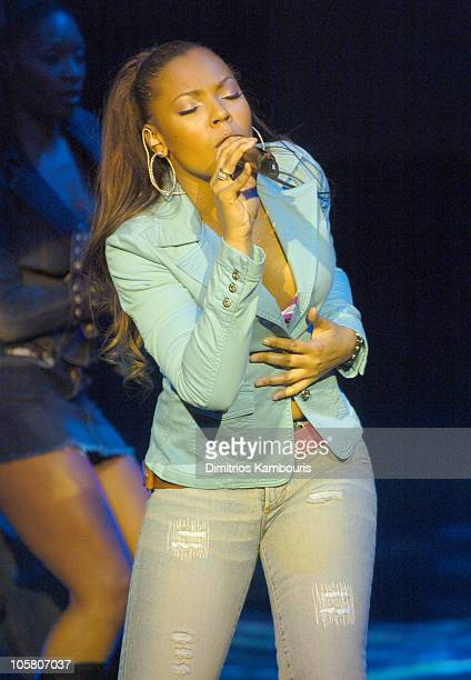Ashanti during Fuse and Hot 97 Present Full Frontal Hip Hop With Host Lil Kim at Webster Hall in New York City New York United States
