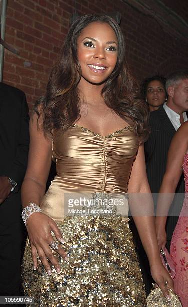 Ashanti during Olympus Fashion Week Spring 2006 - Badgley Mischka - Front Row and Backstage at 261 11th Ave. In New York City, New York, United...