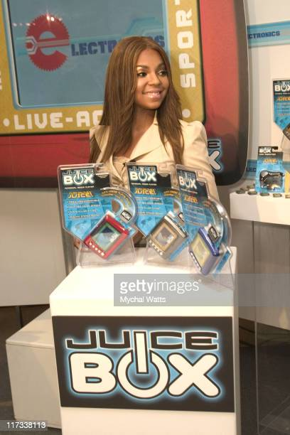 Ashanti during RB Princess Ashanti Joins with Mattel to Introduce the 2005 Content Line Featuring the New Juice Box MP3 Player at Mattel Showroom in...