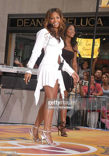 Ashanti during The Today Show's 2003 Summer Concert Series Ashanti at Rockefeller Plaza in New York City New York United States