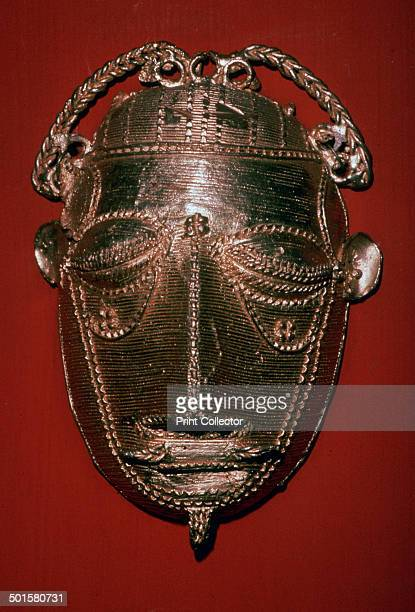 Ashanti gold mask made using the lost wax casting method