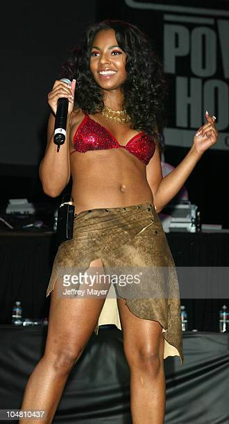 Ashanti in concert during Nelly Ashanti Ja Rule at Power 106 Back To School 2002 Concert at Arrowhead Pond in Anaheim California United States
