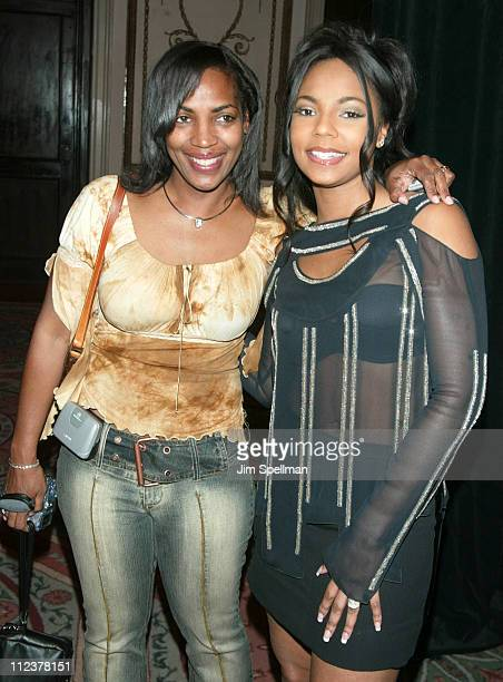Ashanti & mother Tina Douglas during American Cancer Society's 2002 Dreamball at The Waldorf Astoria in New York City, New York, United States.