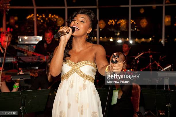 """Ashanti performs at the 2009 Emerald Gala celebrating the 70th anniversary of """"The Wizard of Oz"""" at Tavern On The Green on September 24, 2009 in New..."""