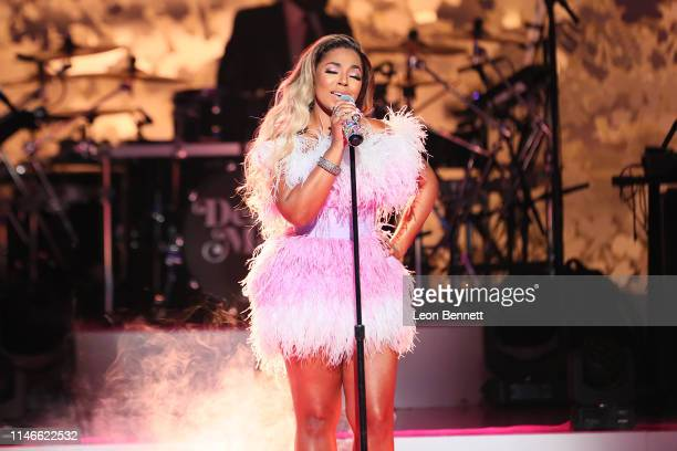 Ashanti performs during VH1's Annual Dear Mama A Love Letter To Mom at The Theatre at Ace Hotel on May 02 2019 in Los Angeles California