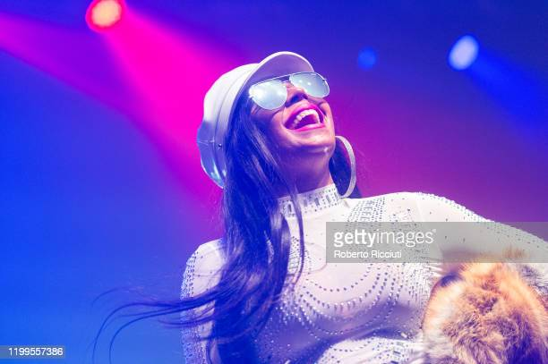 Ashanti performs live on stage at O2 Academy Glasgow on February 8, 2020 in Glasgow, Scotland.