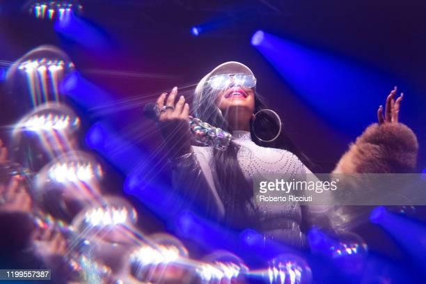 Ashanti performs live on stage at O2 Academy Glasgow on February 8, 2020 in Glasgow, Scotland.