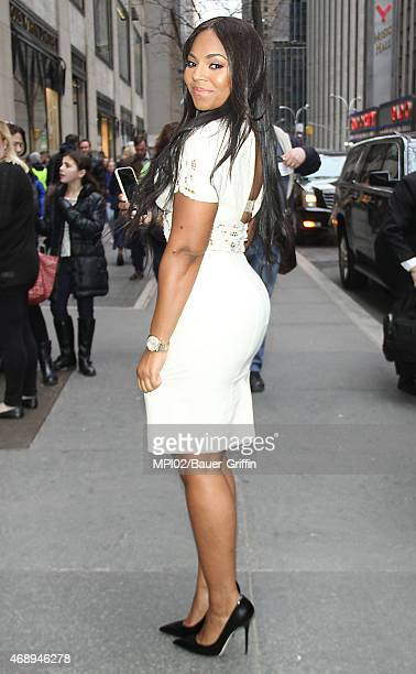 Ashanti stops by the Godiva store after an appearance on The Meredith Vieira Show on April 08 2015 in New York City