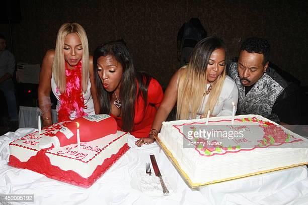 Ashanti Tina Douglas Kenashia 'Shia' Douglas and KenKaide Thomas Douglas attend Tina's Forever Young Birthday Extravaganza at Crest Hollow Country...