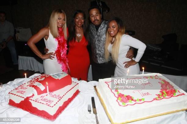 Ashanti Tina Douglas KenKaide Thomas Douglas and Kenashia 'Shia' Douglas attend Tina's Forever Young Birthday Extravaganza at Crest Hollow Country...