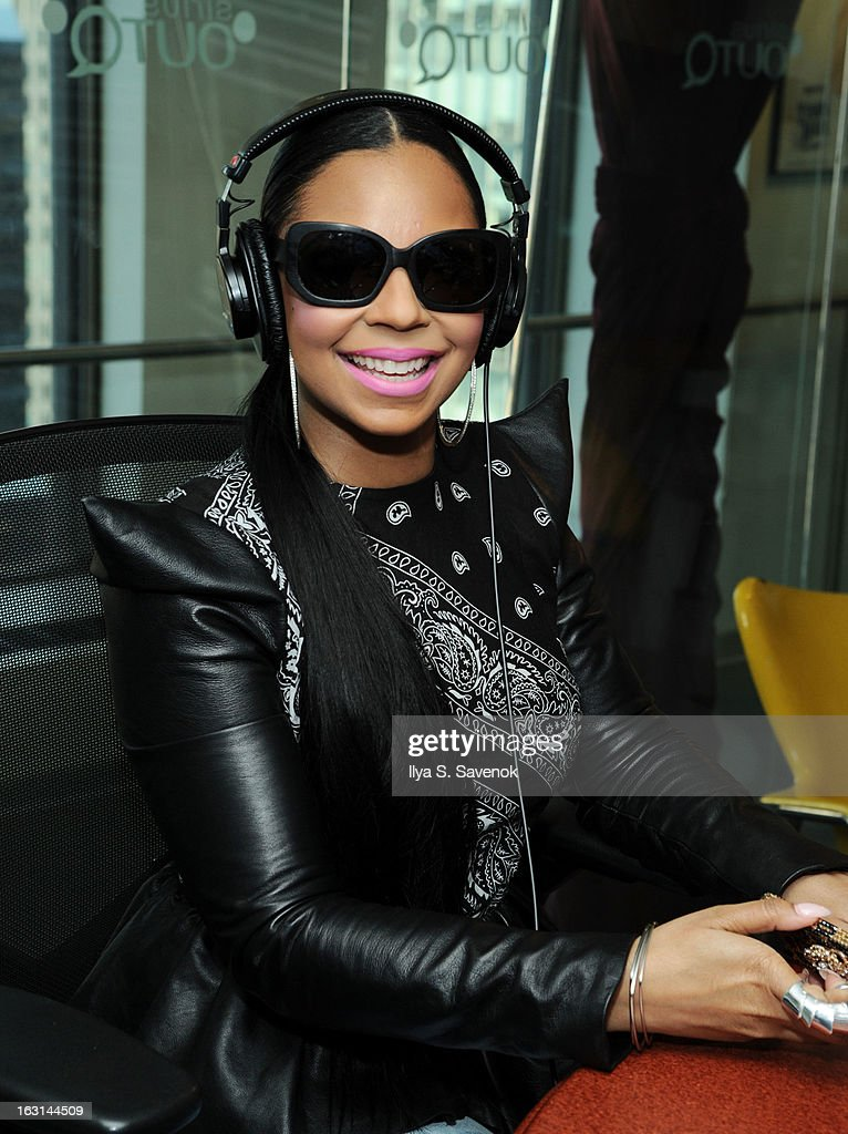 Ashanti visits 'Morning Jolt with Lary Flick' at the SiriusXM Studios on March 5, 2013 in New York City.