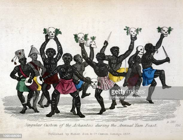 Ashanti Yam Festival, Ivory Coast or Ghana ; Illustration 1837.