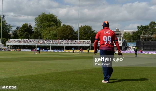 Ashar Zaidi of Essex Eagles in the field during the Royal London OneDay Cup match between Essex Eagles and Yorkshire Vikings at the Cloudfm County...