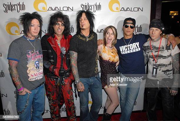 DJ Ashba Alice Cooper Nikki Sixx Giuliana Mayo Slash and Tod Waters at the presentation of Junker Designs Fall 2007 collection at the Avalon in...