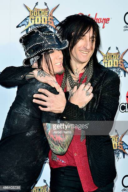Ashba and Richard Fortus arrive at the 2014 Revolver Golden Gods Awards at Club Nokia on April 23 2014 in Los Angeles California