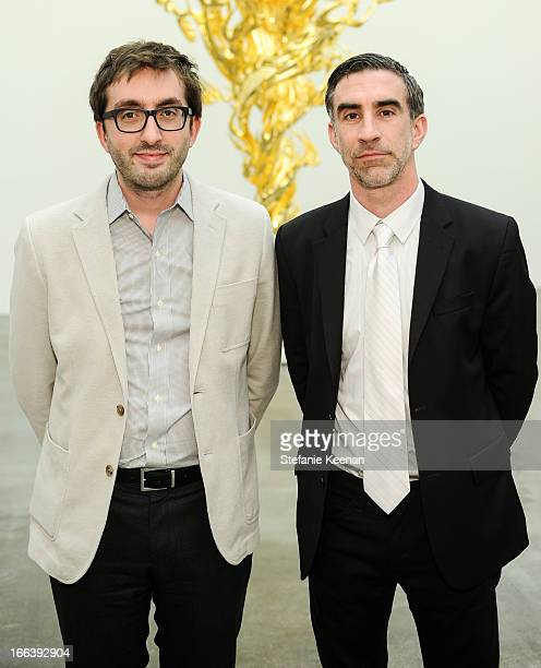 Ashely Rawlings and Michael Smoler attend Takashi Murakami Private Preview And Dinner At Blum Poe on April 11 2013 in Los Angeles California