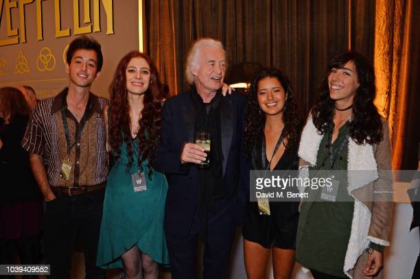 Ashen Josan Page Scarlett Sabet Jimmy Page Zofia Jade Page and Jana Page attend the launch of Led Zeppelin by Led Zeppelin the official illustrated...