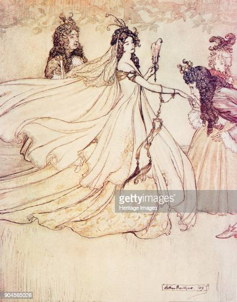 Ashenputtel 1909 Ashenputtel goes to the ball from The Fairy Tales of the Brothers Grimm pub 1909