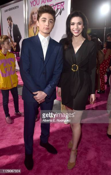 Asher Angel and Grace Fulton attend the World Premiere of Warner Bros Pictures' Isn't It Romantic at The Theatre at Ace Hotel on February 11 2019 in...