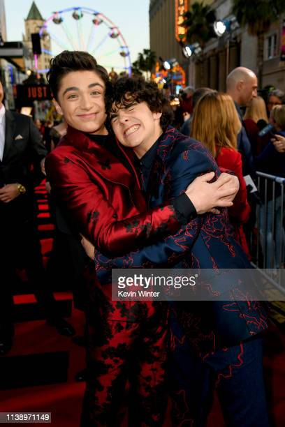 Asher Angel and Jack Dylan Graze attend the Warner Bros Pictures And New Line Cinema's World Premiere Of SHAZAM at TCL Chinese Theatre on March 28...
