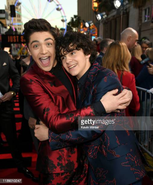 "Asher Angel and Jack Dylan Grazer arrive at the world premiere of Warner Bros. Pictures and New Line Cinema's ""SHAZAM"" at TCL Chinese Theatre on..."