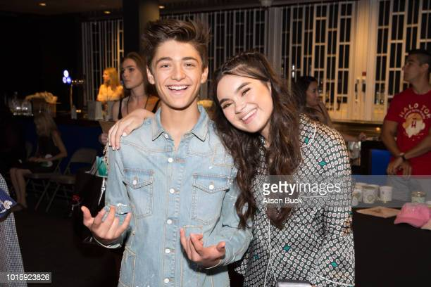 Asher Angel and Landry Bender attend Backstage Creations Celebrity Retreat At Teen Choice 2018 Day 2 at The Forum on August 12 2018 in Inglewood...