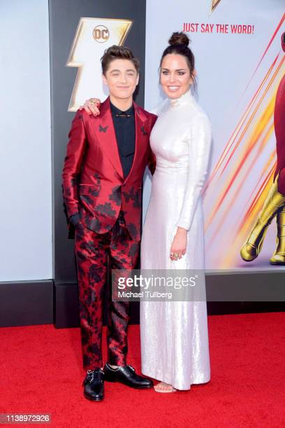 Asher Angel and Marta Milans attend the Warner Bros Pictures And New Line Cinema's World Premiere Of SHAZAM at TCL Chinese Theatre on March 28 2019...