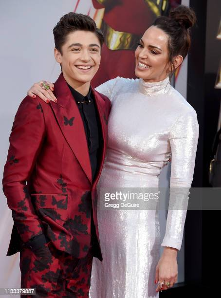 Asher Angel and Marta Milans attend Warner Bros Pictures And New Line Cinema's World Premiere Of SHAZAM at TCL Chinese Theatre on March 28 2019 in...