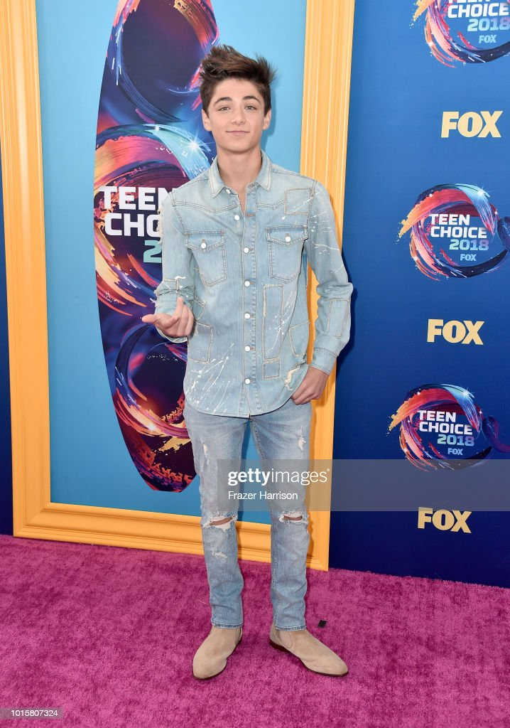 Asher Angel attends FOX's Teen Choice Awards at The Forum on August 12,  2018 in