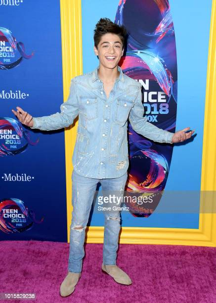 Asher Angel attends FOX's Teen Choice Awards at The Forum on August 12 2018 in Inglewood California
