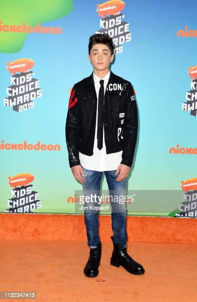 Asher Angel attends Nickelodeon's 2019 Kids' Choice Awards at Galen Center on March 23 2019 in Los Angeles California