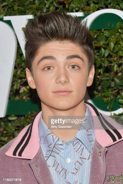 Asher Angel attends Teen Vogue's 2019 Young Hollywood Party Presented By Snap at Los Angeles Theatre on February 15 2019 in Los Angeles California