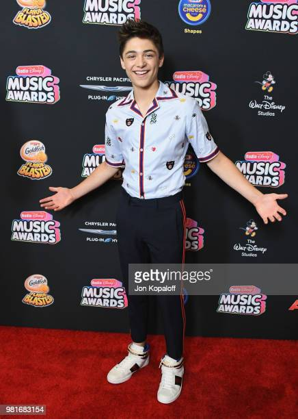 Asher Angel attends the 2018 Radio Disney Music Awards at Loews Hollywood Hotel on June 22 2018 in Hollywood California