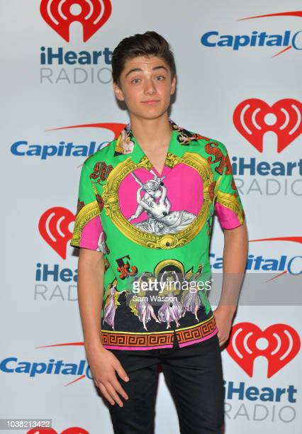 Asher Angel attends the iHeartRadio Music Festival at TMobile Arena on September 22 2018 in Las Vegas Nevada