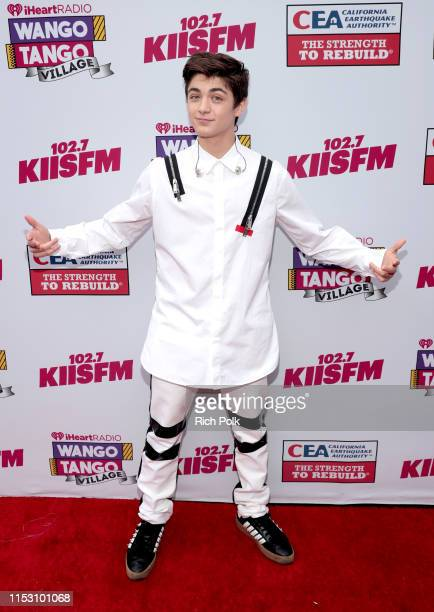 Asher Angel attends the KIIS FM Wango Tango Village at 2019 iHeartRadio Wango Tango at Dignity Health Sports Park on June 01 2019 in Carson California